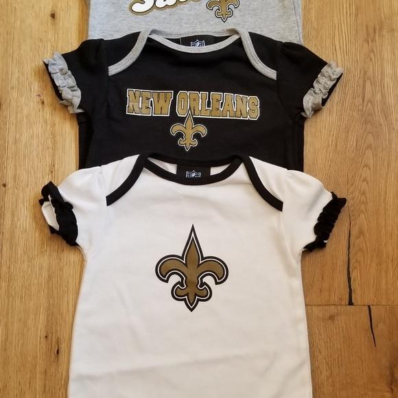 half off 4d94d 32504 NFL New Orleans Saints Onesie 3 pack NWOT